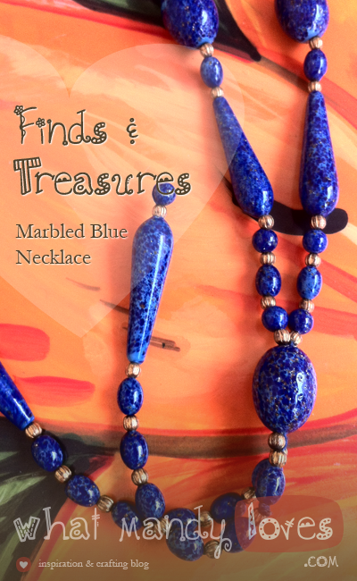 Marbled Blue Necklace