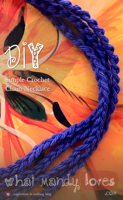 Simple Crochet Chain Necklace