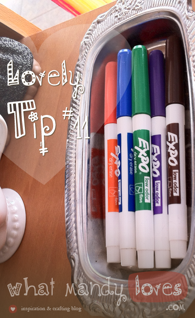 Use A Soap Tin To Hold Dry Erase Pens