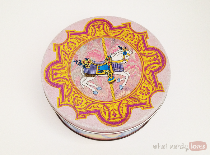 What Mandy Loves: Image of my merry go round tin via whatmandyloves.com