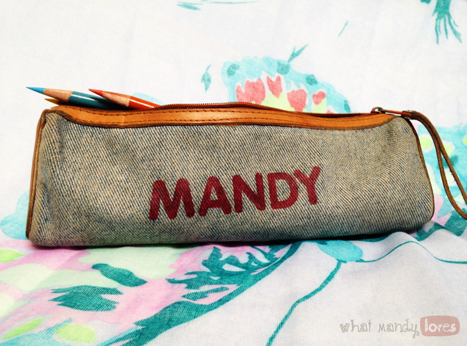 What Mandy Loves: Image of my custom pencil pouch via www.whatmandyloves.com