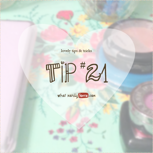 Lovely Tip #21: Beauty Products on Thrifted Trays via www.whatmandyloves.com