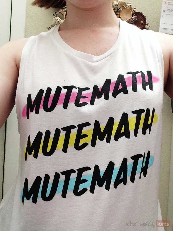 What Mandy Loves: Image of me in my favorite Mutemath tank to via www.whatmandyloves.com