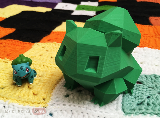 What Mandy Loves: Image of my two Bulbasaur figurines via www.whatmandyloves.com