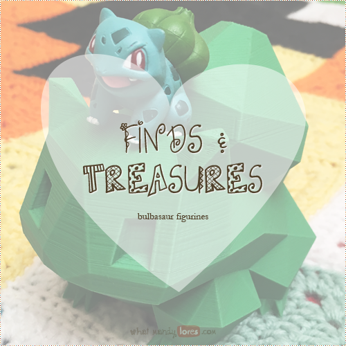 Finds & Treasures: Bulbasaur Figurines via www.whatmandyloves.com